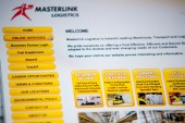Masterlink Logistics website design by Darren Forde