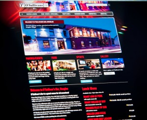 O'Sullivans Bar website design by Darren Forde