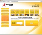 Masterlink Logistics Website Screenshot 4