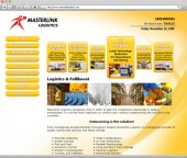 Masterlink Logistics Website Screenshot 2